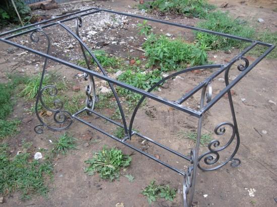 каркас садового столика