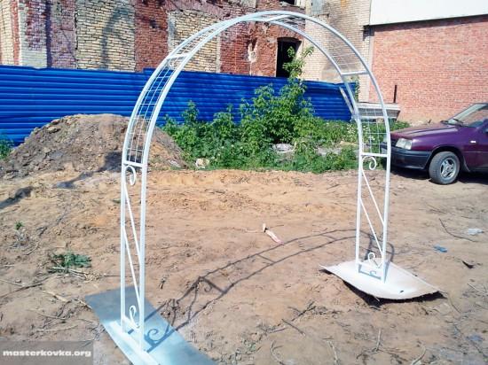 пергола садовая из профильной трубы. 20х20