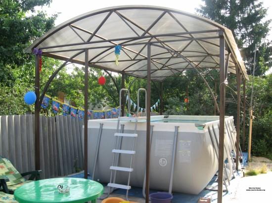 Навес из поликарбоната для бассейна