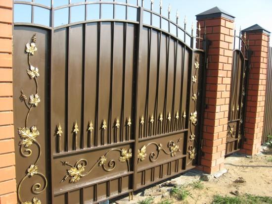 Ворота сварные с элементами ковки. Орехово-Зуево