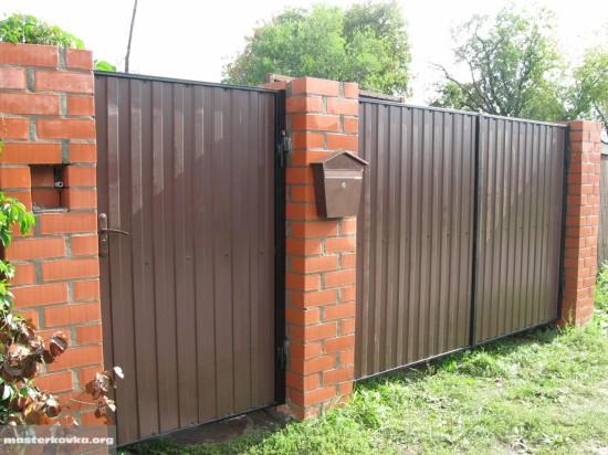 ворота из профнастила г.Дрезна