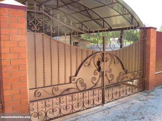 Кованые ворота деревня Емельянцево