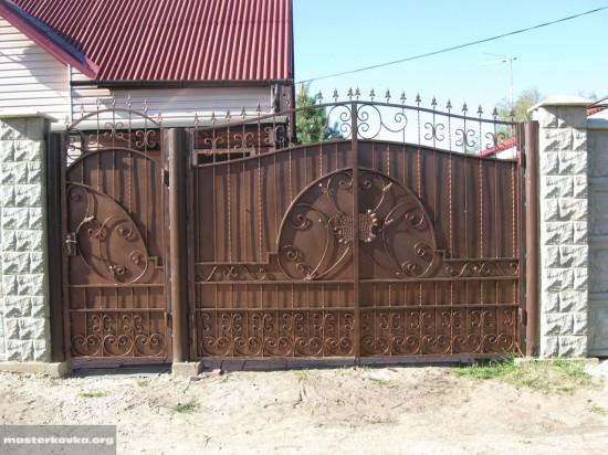 Кованые ворота и калитка СНТ Текстильщик-7