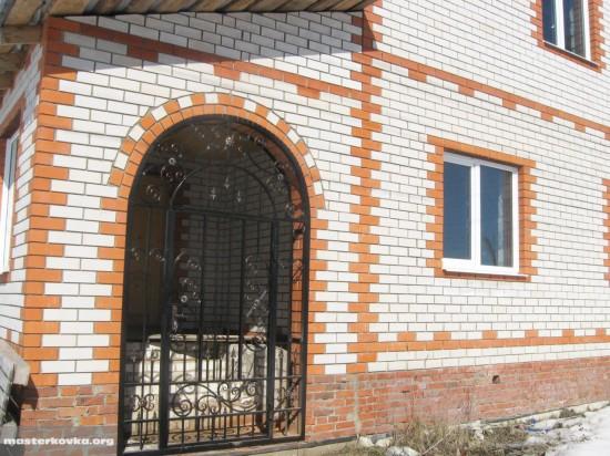 Арочная дверь решетка