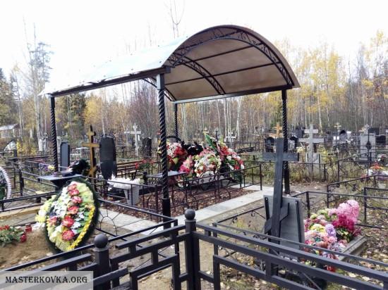 Навесы на кладбище Орехово - Зуево