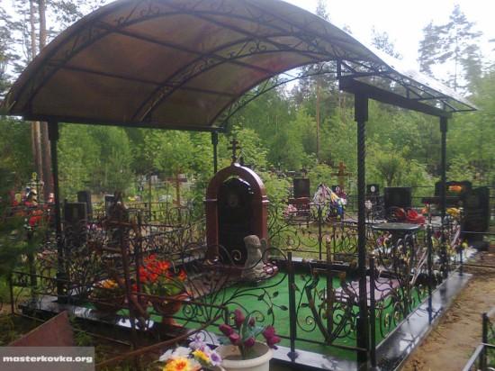 Навес над могилой Орехово-Зуево