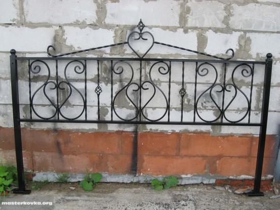 Ритуальная ограда г. Ликино - Дулево высота 50 см
