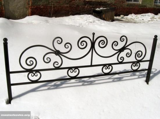 Ограда ритуальная.