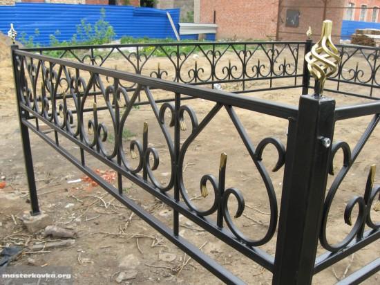 Оградка на кладбище 40см.