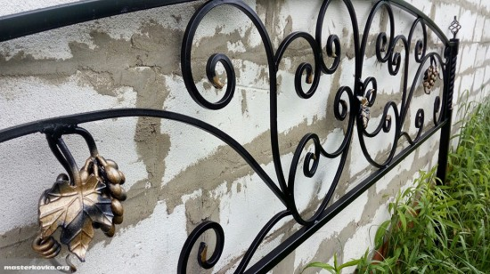 Ограда на могилу с виноградом город Дрезна
