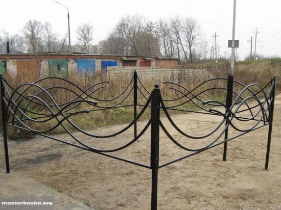 Ритуальная ограда 70см.