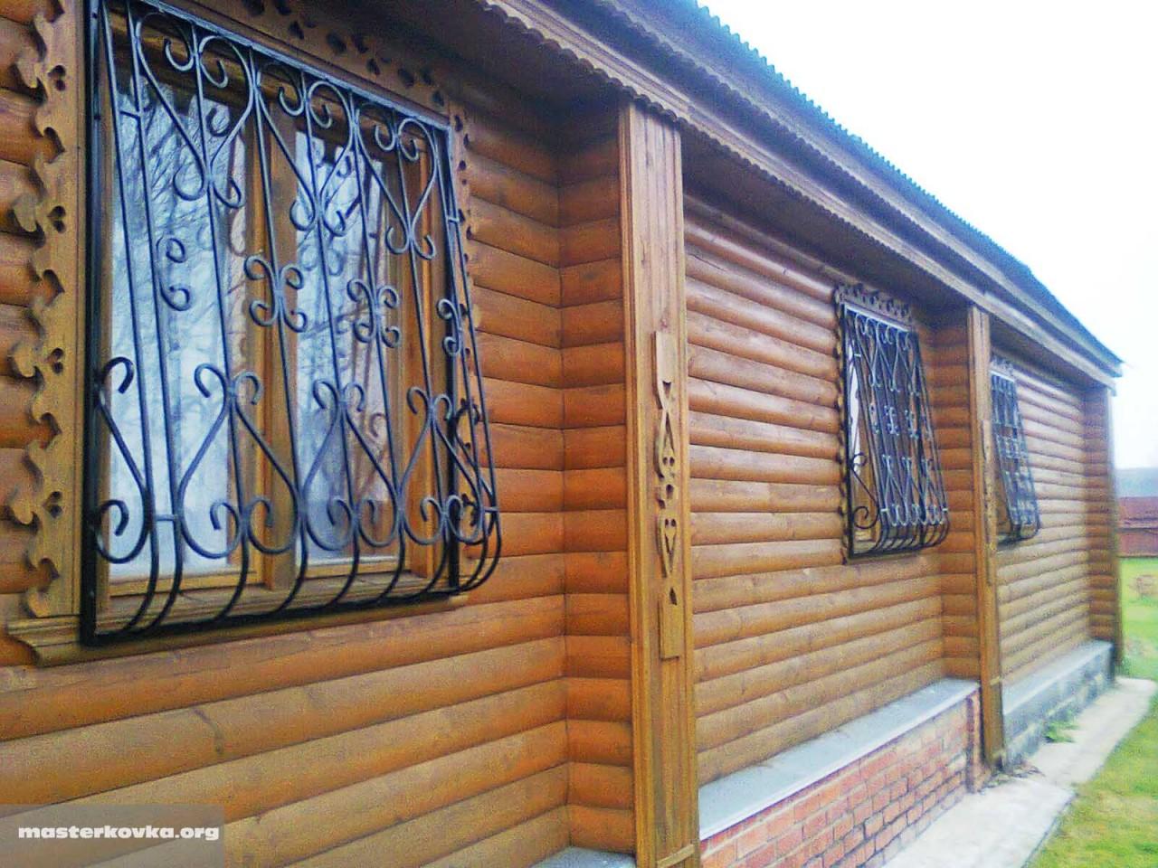 Крепеж решеток на окна в деревянном доме своими руками