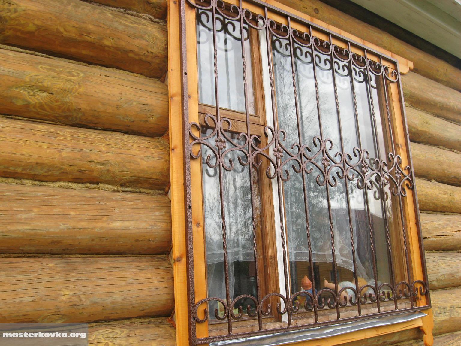 """Декоративные решетки на окна - """"град плюс""""."""